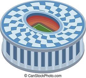 Circle sport arena icon, isometric style