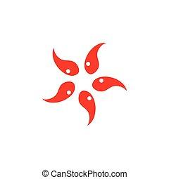 circle star symbol logo vector