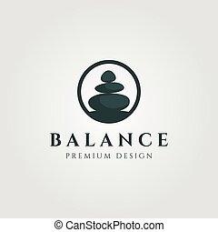 circle stone balance logo vector illustration design