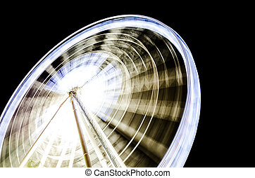 Circle swing - Movement lighting circle swing at night