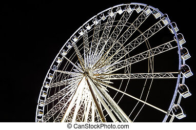 Circle swing at night