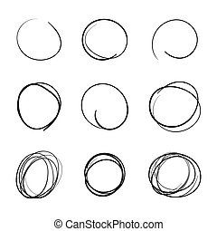 Circle template Hand Drawn Simple Set