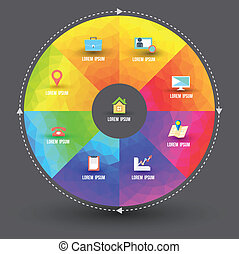 circle template with icons - Abstract business infographics ...