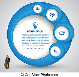 Circle template with icons