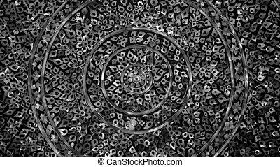 Circle Thai pattern moving background