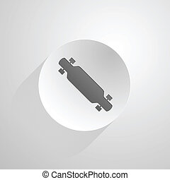 Circle vector icon for longboard