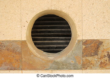 Circle ventilation in wall