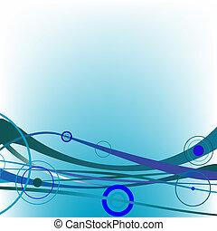 circle waves blue