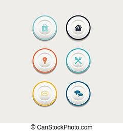 Circle web design button collection