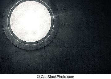 Circle window on the wall