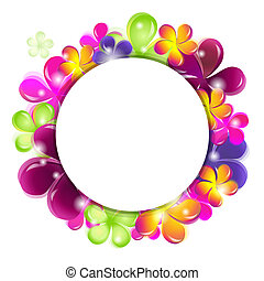 Circle With Abstract Flowers