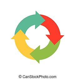 Circle with arrows icon. Infographic design. vector graphic