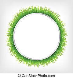 Circle With Grass, Vector Illustration