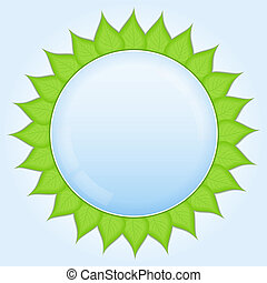 Circle with green leaves
