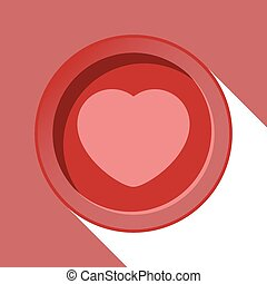 circle with heart and shadow