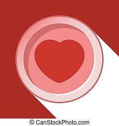 circle with heart