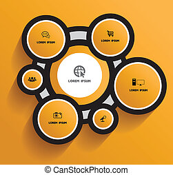 Circle with icons