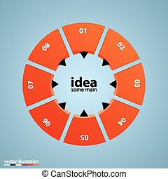 Circle with options business concept