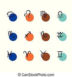 circle zodiac sign horoscope