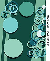 circles abstract background vector