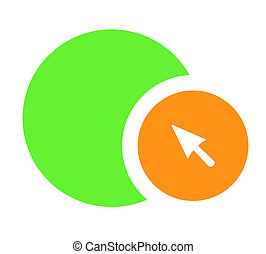 Circles and arrow