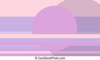 Circles and lines, purple