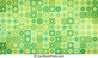 circles and squares geometric loop