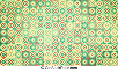 circles and squares geometric loopable background