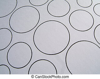 Circles close-up - Black circles close-up : you can change...