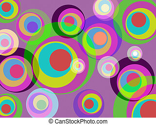 Circles Color Represents Round Abstract And Multicoloured