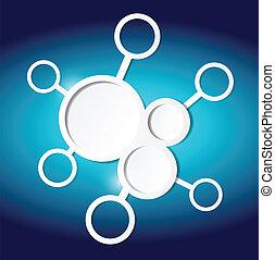 circles diagram illustration design