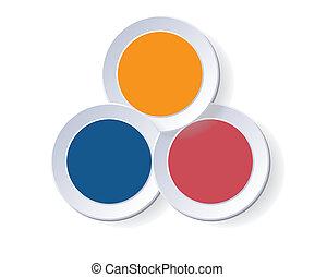 Circles diagram three positions - Circles diagram Template ...