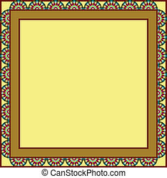 circles framed background