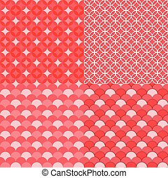 Circles geometric seamless pattern, Abstract background