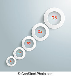 Circles Growth 5 Options Infographic PiAd