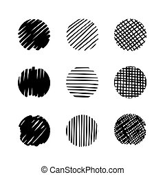 Circles hand drawn set