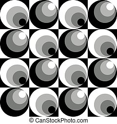 Circles In Circles pattern in grey repeats seamlessly.