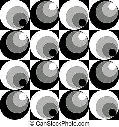 Circles in Circles Pattern Grey