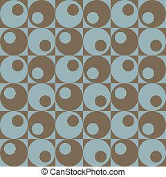 Circles In Squares Blue-Brown