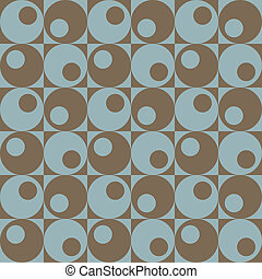 Circles In Squares_Blue-Brown - A retro, repeating vector...