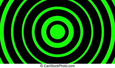 Circles moving on green background - Digitally generated ...