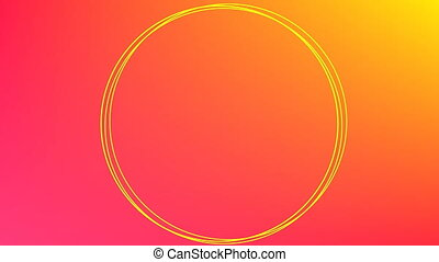 Circles on orange to red background