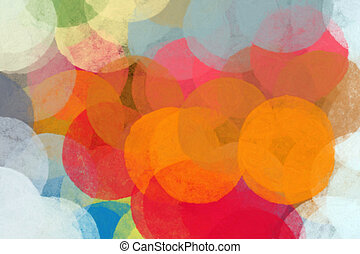 circles pattern - Circles abstract illustration. Brush paint...