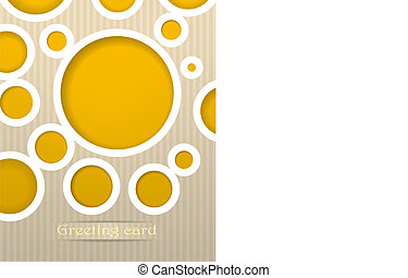 Circles postcard vector illustration
