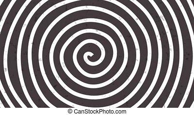 circles., rond, tordre, lines., psychédélique, abstraction., effet, blanc, tourbillonner, op, art, noir, rayé, illusion optique, hypnotique, tourner