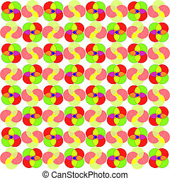 circles seamless abstract pattern