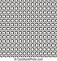 Circles seamless pattern. Black and white abstract background. Repeatable.