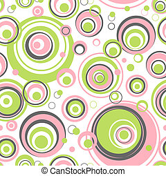 Circles seamless pattern - vector background for continuous replicate. See more seamless patterns in my portfolio.
