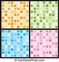 Circles seamless pattern