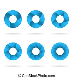 Circles segmented into parts set